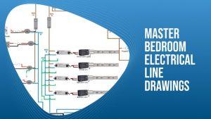 Master Bedroom Electrical Line Drawings
